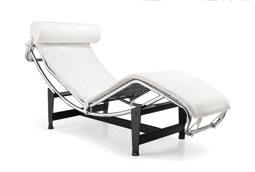 chaise longue blanca le corbusier