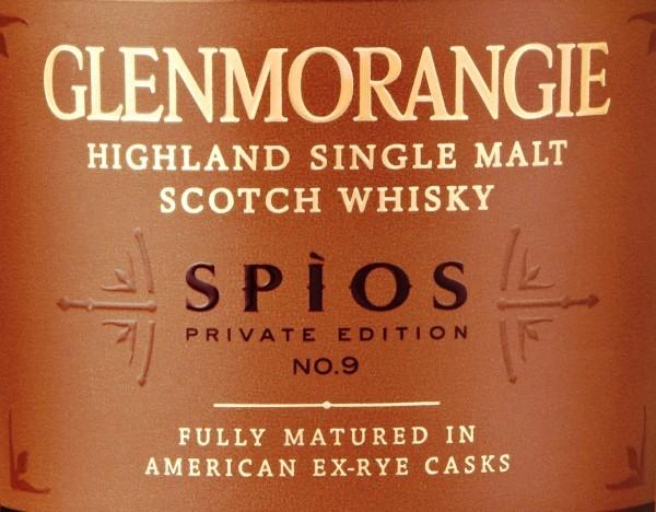 Etiqueta Glenmorangie Private Edition 9 Spios