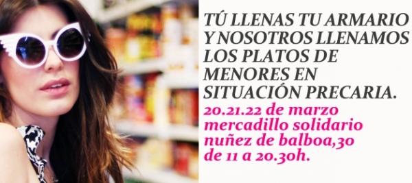 """Mercadillo solidario """"Outfits que alimentan"""""""