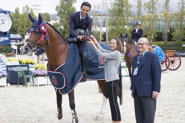 Emilio Bicocchi gana el Trofeo CaixaBank del CSIO Barcelona
