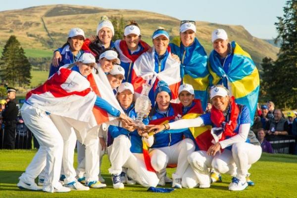 Carlota Ciganda y Azahara Muñoz llevan al equipo europeo de golf a la victoria de la Solheim Cup