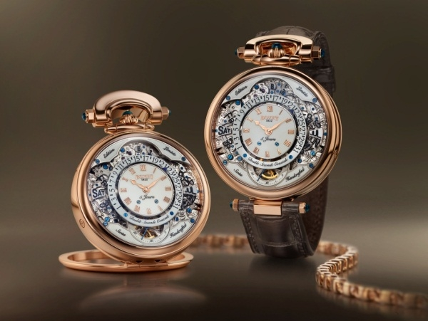 Reloj Bovet 1822 Amadeo Fleurier Virtuoso VII oro rojo 18k con esfera lacada en blanco