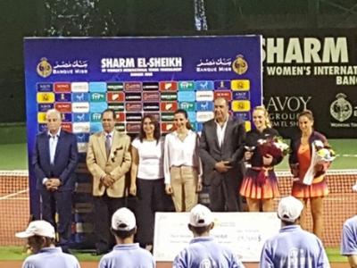 Sara Sorribes en el torneo ITF Pro de Sharm El Sheikh
