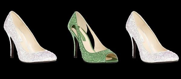Zapatos con cristales Swarovski: Aquila, Cassiopeia e Hydra,