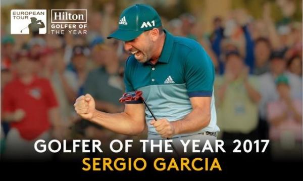 Sergio García elegido Golfer of the Year 2017