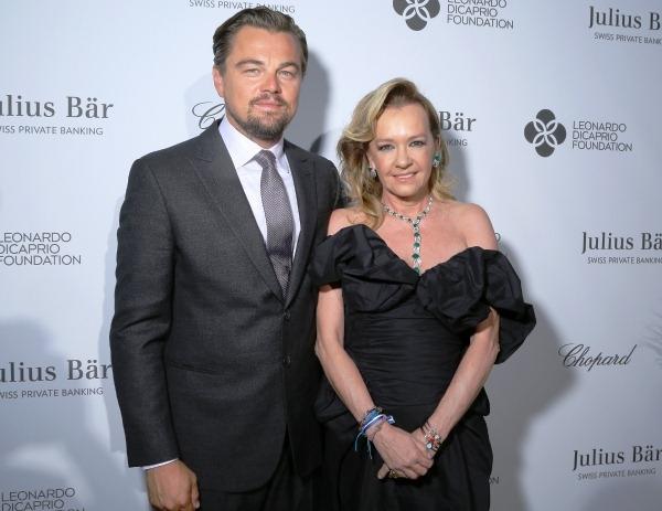 Actor Leonardo DiCaprio and Chopard co-President Caroline Scheufele