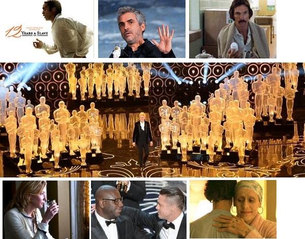 La lista de las peliculas ganadoras de los premios Oscars 2014