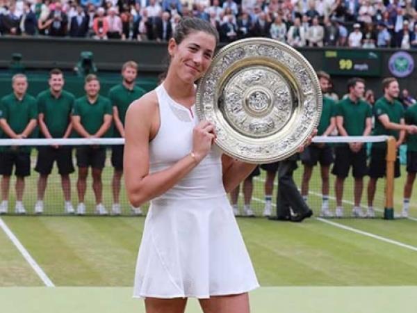 Garbiñe Muguruza conquista el torneo de tenis de Winbledon