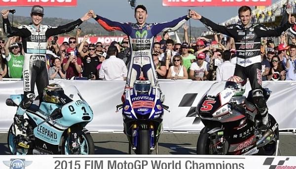 Jorge Lorenzo, tricampeón del mundo de Moto GP