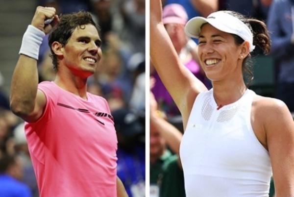 Rafael Nadal y Garbiñe Muguruza, números uno del tenis mundial