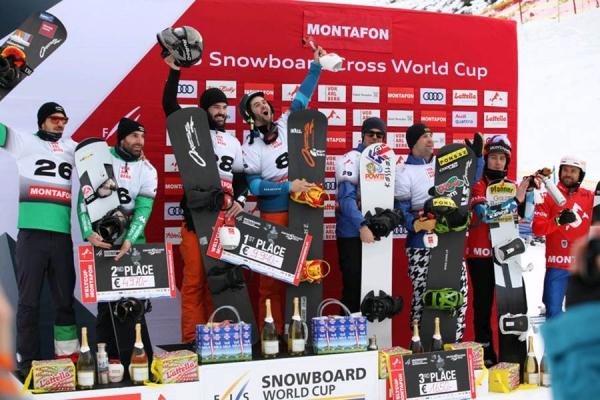 Victoria para Regino Hernández y Lucas Eguibar en la Copa del Mundo FIS de snowboard cross por equipos en Montafon (Austria)