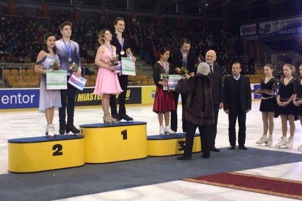 Sara Hurtado y Kirill Khalyavin plata en patinaje artístico en Polonia
