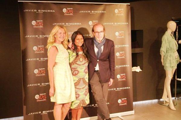 Cristina Muñoz, Asha Miró y Javier Simorra - III Rastrillo de Moda Solidario