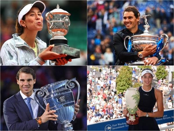 Garbiñe Muguruza y Rafa Nadal elegidos Campeones del Mundo de Tenis 2017