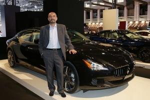 Ivan Capelli en el Espacio Cars Gallery de Maserati