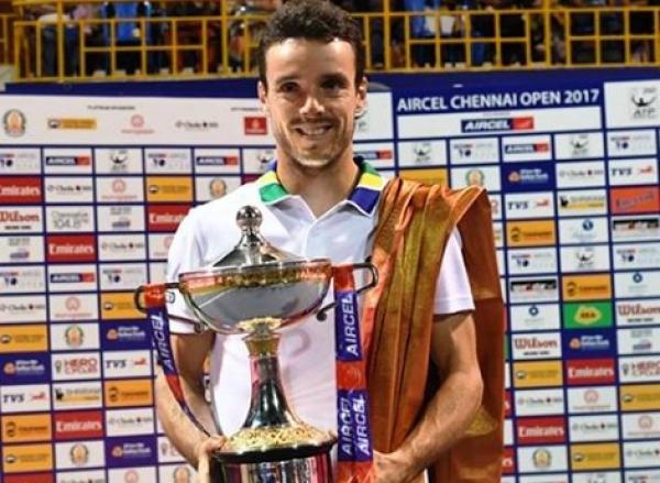 Roberto Bautista conquista el torneo de tenis de Chennai (India)