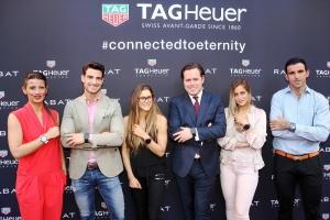 De izq. a derecha, Blanca Panzano, Directora General de TAG Heuer, A.Ocio, G.Pulido, Jordi Rabat, L.Martiño y J.Ajram