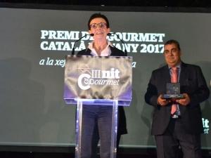 Carme Ruscalleda y Ángel Velasco, presidente del Clúster