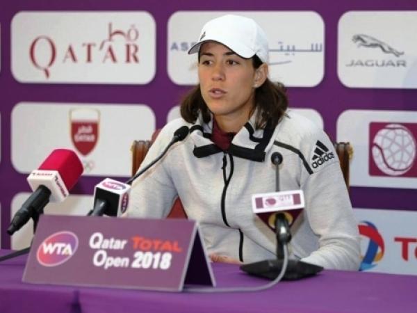 Garbiñe Muguruza subcampeona del torneo WTA Premier 5 de Doha