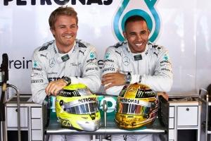 Nico Rosberg y Lewis Hamilton