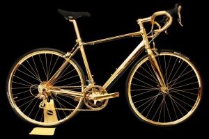 Goldgenie Presenta Bicicleta Chapada En Oro de 24 Quilates