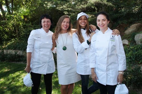 Fina Puigdevall, Blanca Ohlsson , Maria Marte y Elena Arzak en el Club de Gofl de la Moraleja