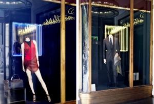 Escaparate de la boutique Santa Eulalia
