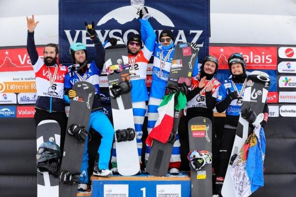 Regino Hernández Y Lucas Eguibar, subcampeones del circuito de Copa del Mundo FIS de snowboardcross por equipos