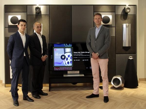 Jordi y Francesc Monleon . Tue Mantoni (CEO Bang & Olufsen)