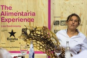 Yolanda León del restaurante Cocinandos en el Showcooking
