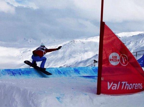 Lucas Eguibar en la Copa del Mundo FIS SBX de Val Thorens