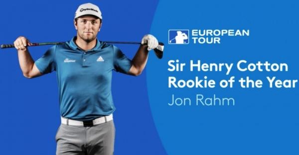 """Jon Rahm, premio """"Sir Henry Cotton"""" como mejor novato del año"""