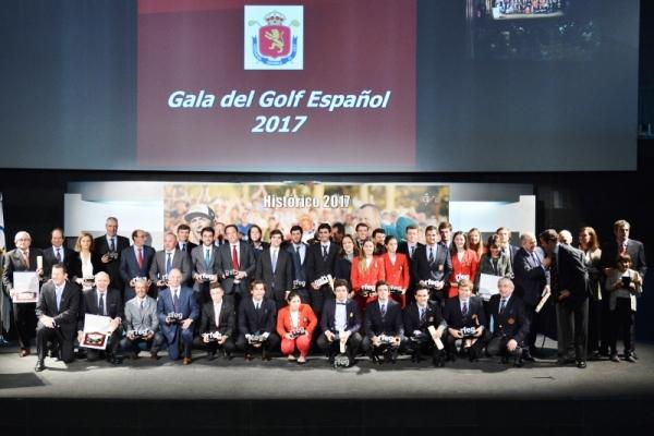 Gala del Golf Español con los protagonistas de un inolvidable 2017