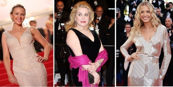 Kylie Minogue, Catherine Deneuv y Petra Nemcova