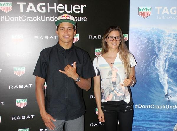 Gisela Pulido y Kai Lenny visitan Barcelona como embajadores Tag Heuer