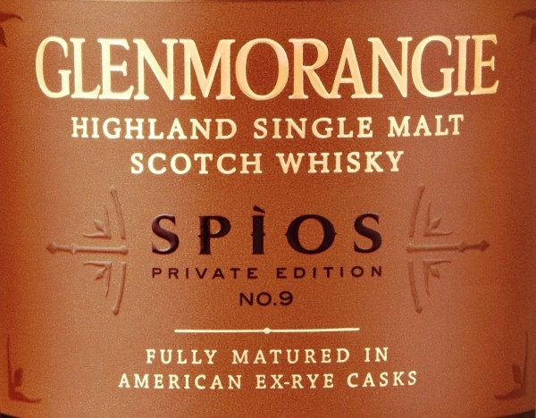 Etiqueta Glenmorangie Private Edition 9 Spios