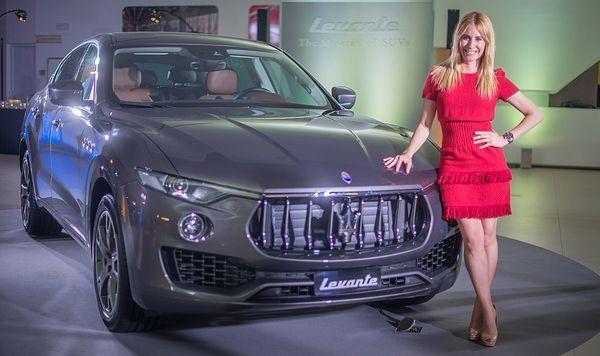 Ainhoa Arbizu presenta el Maserati Levante