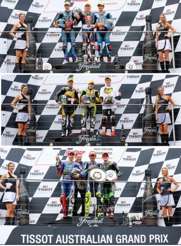 GP de Australia circuito Phillip Island. Los pilotos españoles más cerca del triplete.
