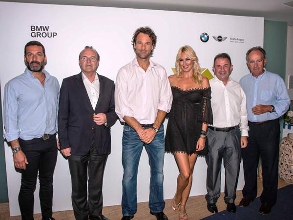 En la foto, de izquierda a derecha: Jaime Anglada, Guenther Seemann, Carlos Moyá, Carolina Cerezuela, Martín Berasategui y Javier Sanz.