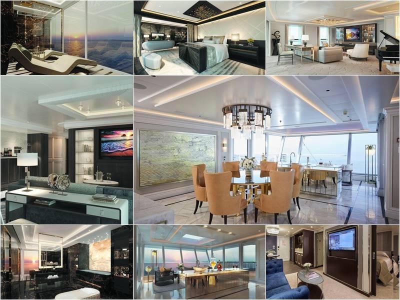 ILas espectaculares suites del crucero Seven Seas Splendor